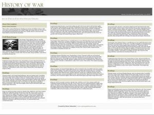 History of war