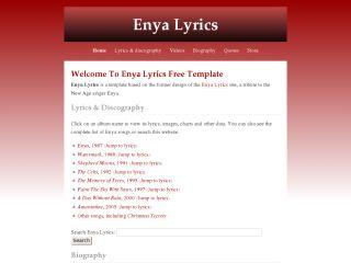 Enya Lyrics