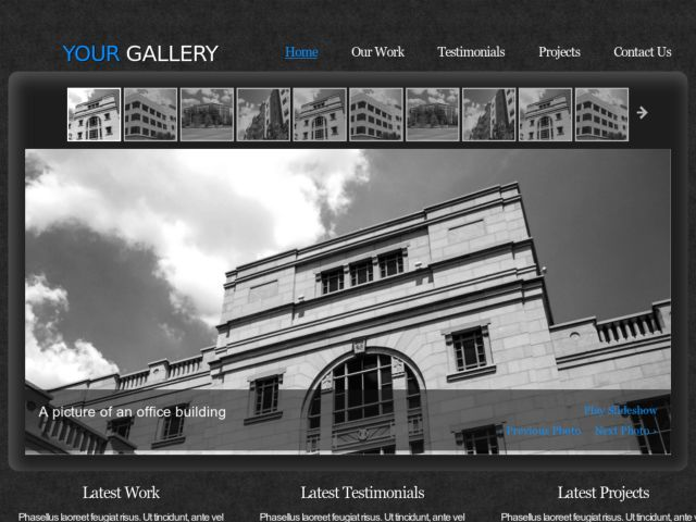 My Gallery » Free Web Template from OpenDesigns.org