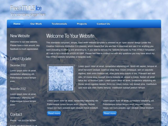 HTML5 Ice