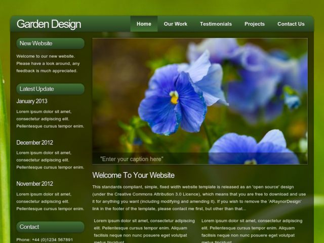 Garden Design » Free Web Template From Opendesigns.Org